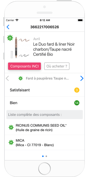 Aperçu de l'application