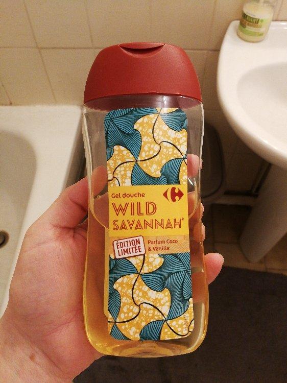 Nouvel Carrefour Gel Douche Wild Savannah (Parfum Coco & Vanille) - 250 QX-15