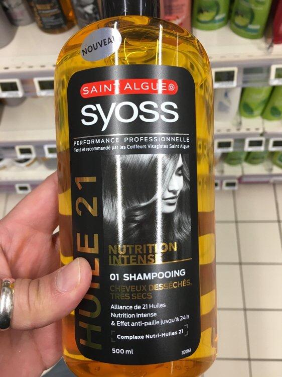 Saint Algue Syoss Elixir Nutrition Shampooing Huile Cheveux Desseches Tres Secs Inci Beauty