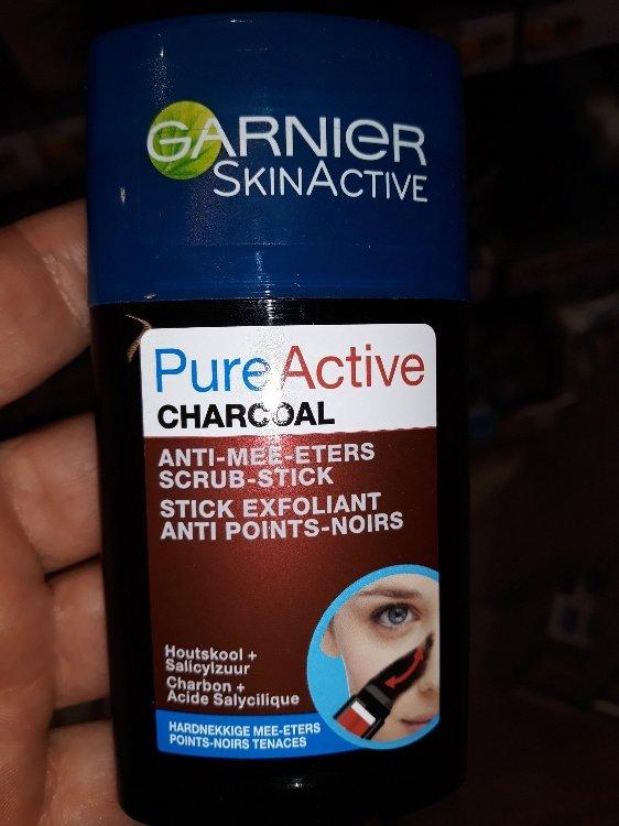 Garnier Skinactive Pureactive Charcoal Anti Mee Eters Scrub Stick Stick Exfoliant Anti Points Noirs Inci Beauty